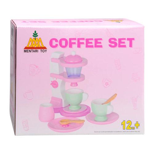 houten koffiezetapparaat in doos Sassefras Meisjes Speelgoed