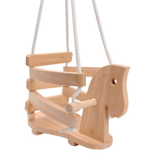 houten schommel paard Sassefras Meisjes Speelgoed