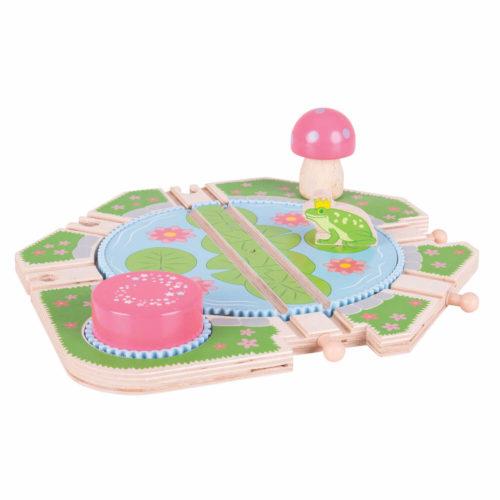 Uitbreiding Treinbaan Draaiplateau Sassefras Meisjes Speelgoed