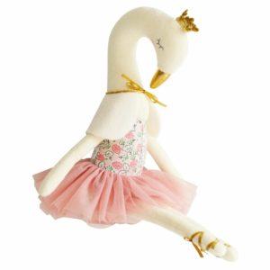 alimrose knuffel zwaan blush zitten Sassefras Meisjes Speelgoed