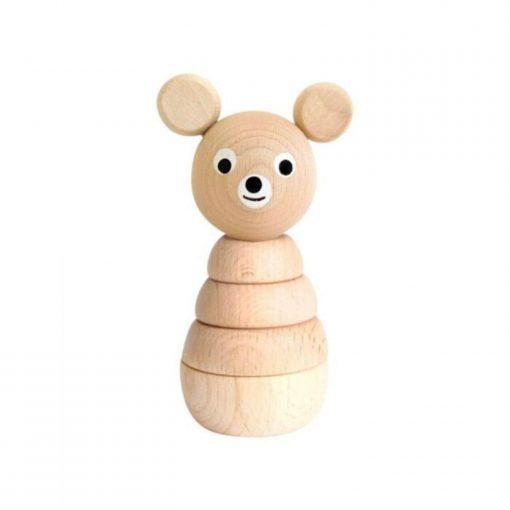 houten stapelfiguur beer Sassefras