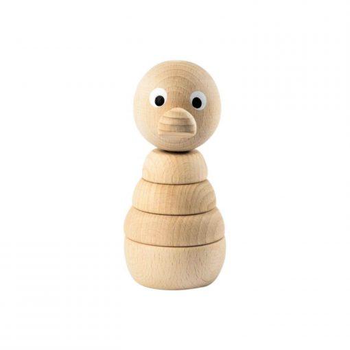 houten stapelfiguur eend Sassefras