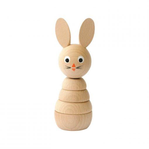 houten stapelfiguur konijn Sassefras