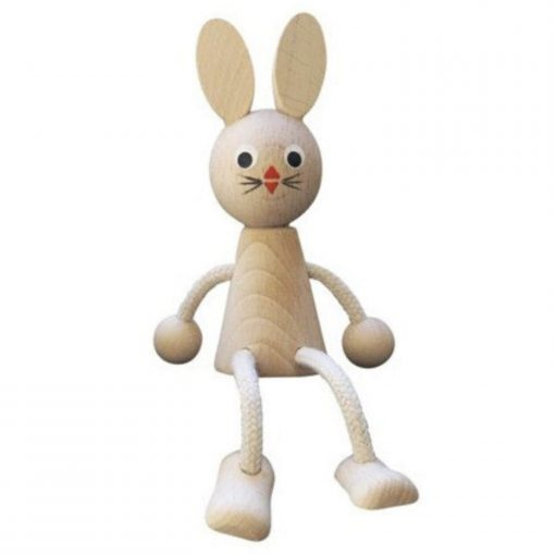 houten zitfiguur Kiki het konijn Sassefras
