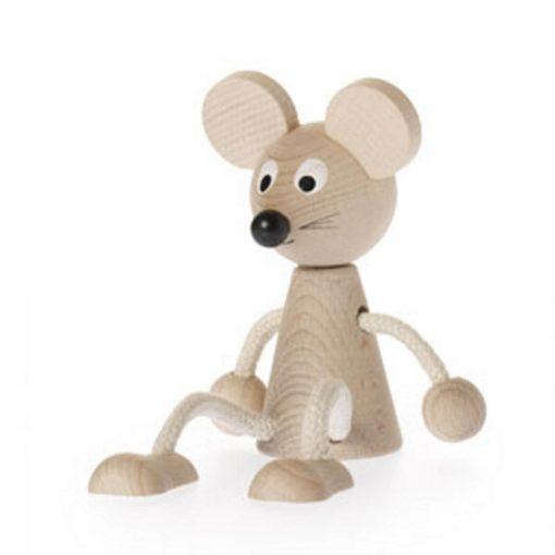 houten zitfiguur Miesje de muis Sassefras