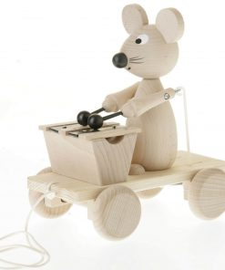 trekfiguur muis met xylofoon Sassefras Meisjes Speelgoed