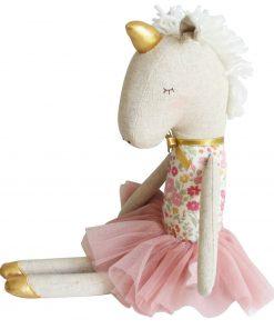 eenhoorn knuffel Alimrose zittend Sassefras Meisjes Speelgoed