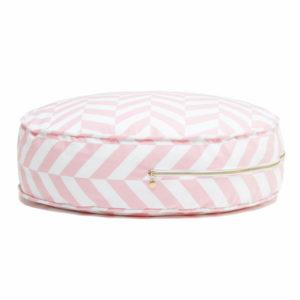 ronde ottoman poef chevron roze Sassefras Meisjes Speelgoed