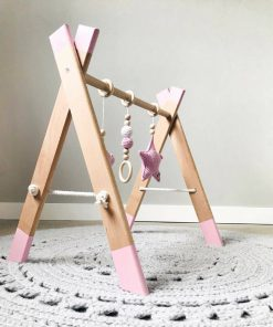 houten babygym roze Sassefras Meisjes Speelgoed