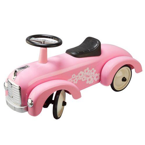 Lichtroze metalen retro loopauto Sassefras Meisjes Speelgoed