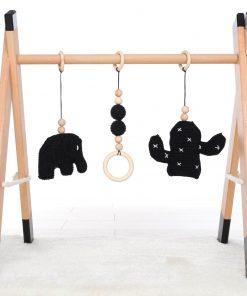 houten babygym zwart Sassefras