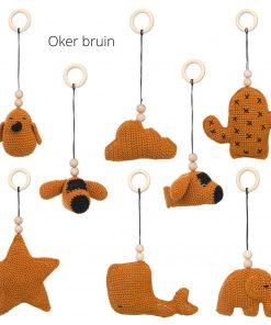 losse speeltjes voor de babygym oker:bruin Sassefras