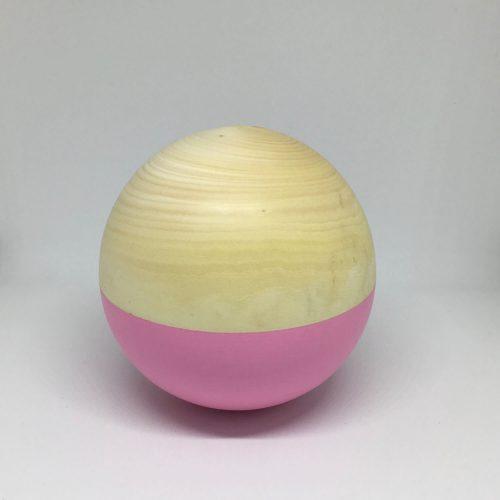 muzikale houten bal pink en houten rammelaar pink Sassefras Meisjes Speelgoed