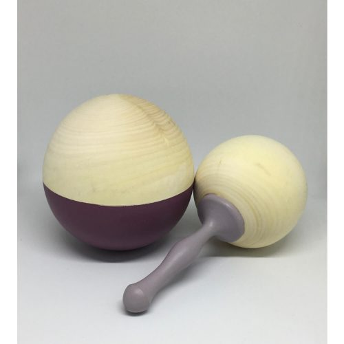muzikale houten bal plum en houten rammelaar mist Sassefras Meisjes Speelgoed