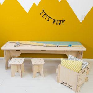 houten multiplex speeltafel strand Sassefras Meisjes Speelgoed