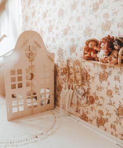 houten speelhuisje voor binnen klokgevel Sassefras
