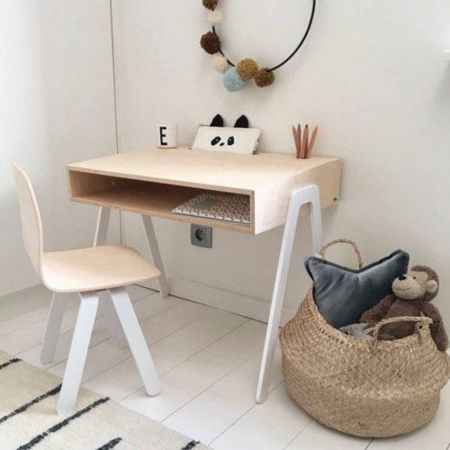 multiplex bureau voor kinderen met stoel wit Sassefras Meisjes Speelgoed
