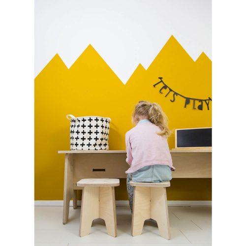 multiplex krukje voor kinderen zitten sfeer Sassefras Meisjes Speelgoed