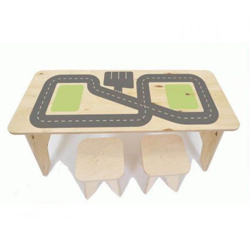 multiplex speeltafel met autobaan print Sassefras