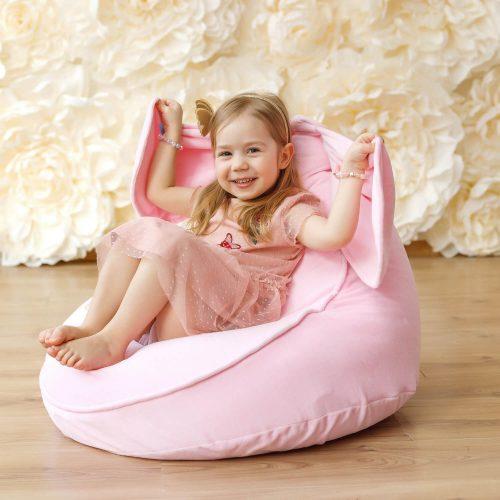 bunny zitzak roze met kindje Sassefras Meisjes Speelgoed