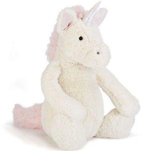 jellycat eenhoorn knuffel 31 cm voorkant Sassefras Meisjes Speelgoed