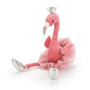 fancy flamingo roze knuffel jellycat Sassefras Meisjes Speelgoed