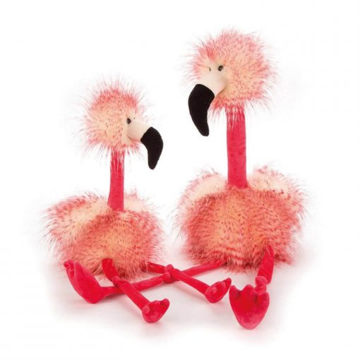 flora flamingo van jellycat groot en klein Sassefras Meisjes Speelgoed