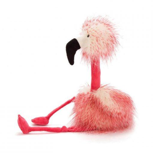 flora flamingo van jellycat zijkant Sassefras Meisjes Speelgoed