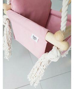 houten babyschommel met bunny oren roze merk Sassefras Meisjes Speelgoed