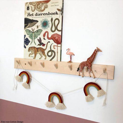 macramé regenboog garland slinger Cotton Design Sassefras