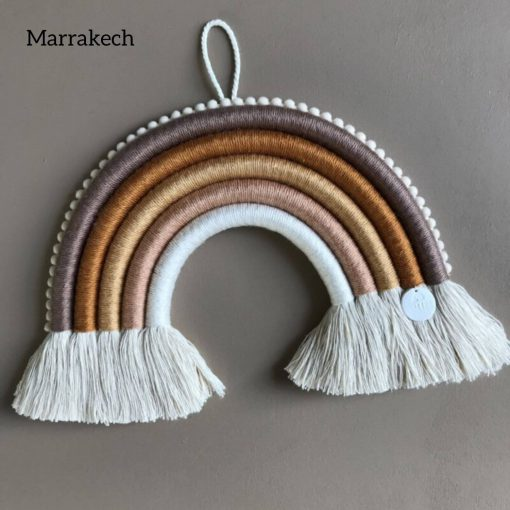 macrame regenboog hanger big chunky Marrakech Cotton Design Sassefras