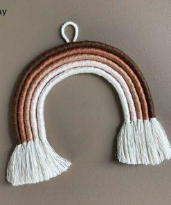 macrame regenboog hanger classic clay cotton design Sassefras