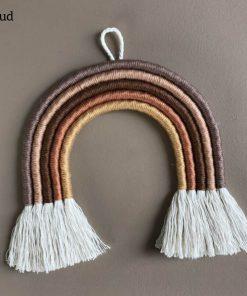 macrame regenboog hanger classic mud cotton design Sassefras