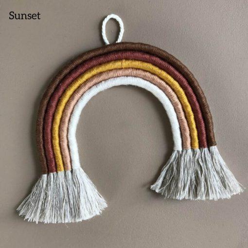 macrame regenboog hanger classic sunset cotton design Sassefras