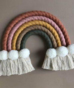 macrame regenboog hanger cloudy Cotton Design Sassefras