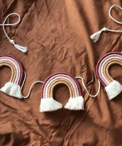 macrame regenboog slinger cotton design Sassefras