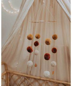 pompom mobile cotton design hangend Sassefras