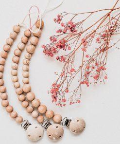 speenkoorden met houten kralen alle kleuren Sassefras