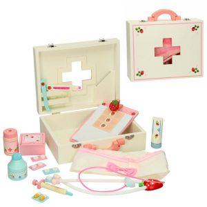 dokterskoffertje van hout - Sassefrasmeisjesspeelgoed