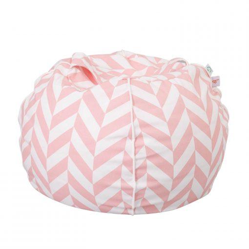 kleine ronde ballon zitzak chevron roze Sassefras