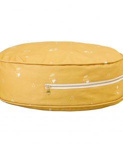 ronde ottoman poef honey mustard Sassefras