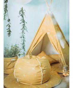 ronde zitzak honey mustard sfeer Sassefras
