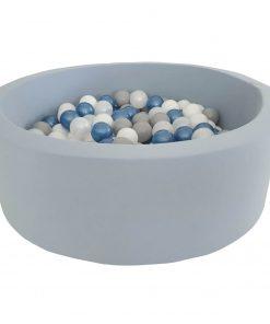 lichtblauw ballenbad dusty blue Sassefras