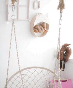 decoratief wandkastje in de vorm van een kat Sassefras