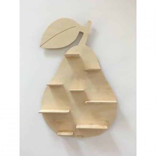 decoratieve wandplankje in de vorm van een peer Sassefras