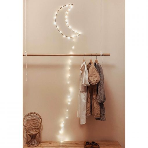 handgemaakte maanlamp met led lichtjes Sassefras