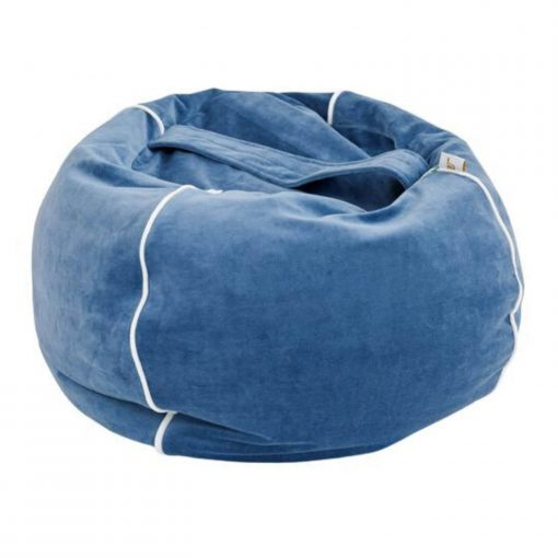 kinder zitzak met handvat donkerblauw Sassefras