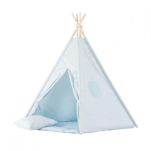 lichtblauwe tipi tent Sassefras
