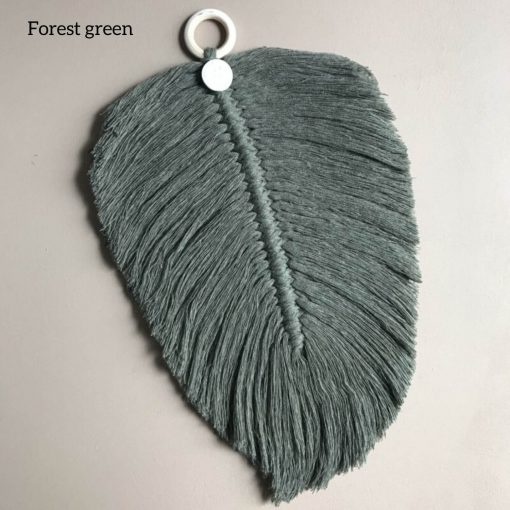 macrame veer forest green Sassefras