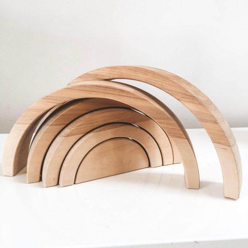 massief houten regenboog 6 bogen Sassefras